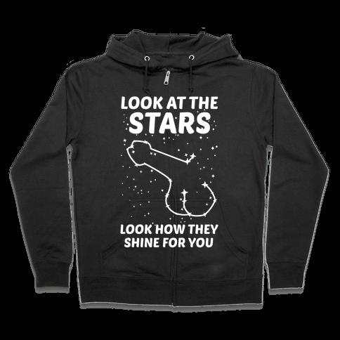 Penis Constellation Zip Hoodie