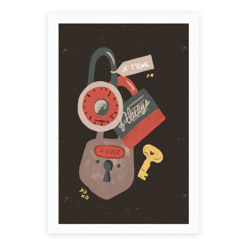 Paris Love Locks Poster