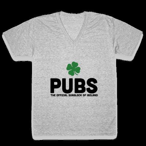 Pubs V-Neck Tee Shirt