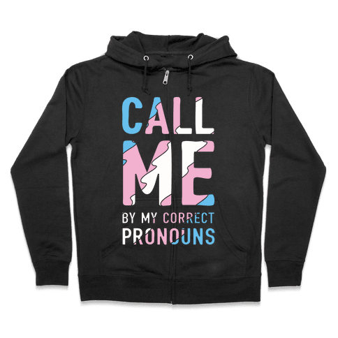 Call Me By My Correct Pronouns Zip Hoodie