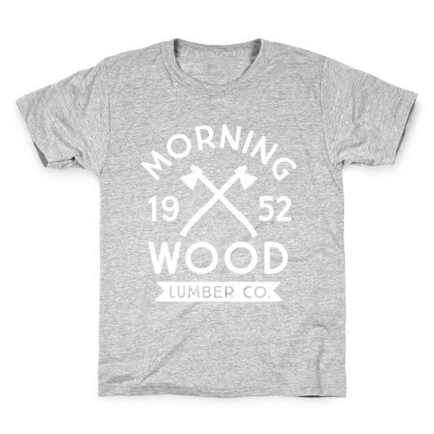 Morning Wood Lumber Co Kids T-Shirt