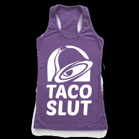 Taco Slut Logo Racerback Tank Top