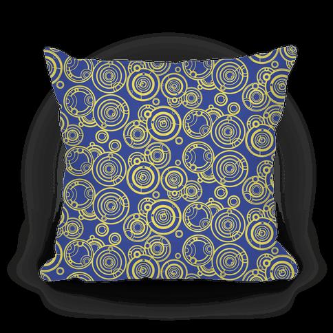 Yellow and TARDIS Blue Gallifreyan Writing Pattern