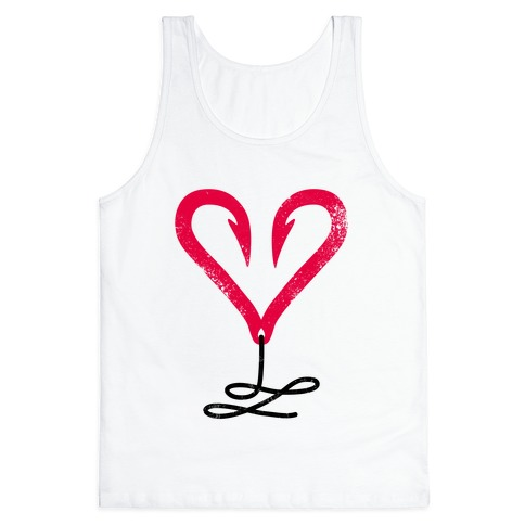 I Love Fishing (Hook Heart) Tank Top