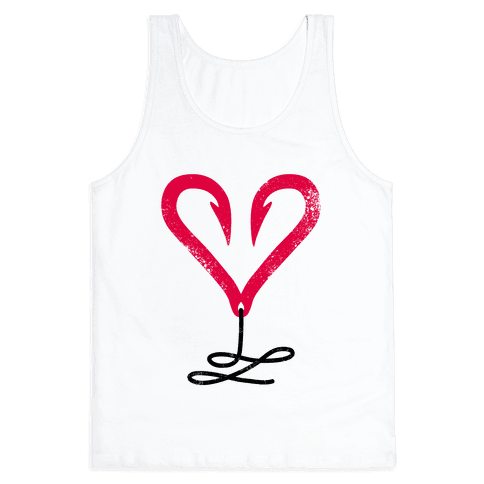 I Love Fishing (Hook Heart) Tank Top