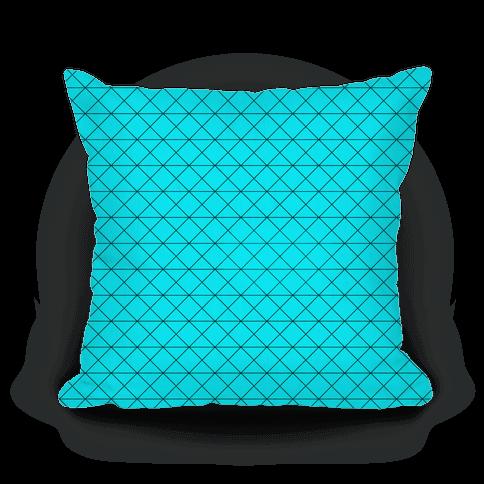 Teal Grid Pattern