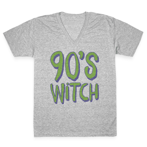 90's Witch V-Neck Tee Shirt