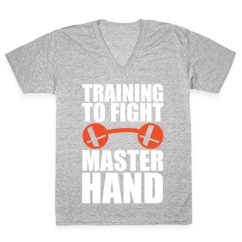 Training To Fight Master Hand V-Neck Tee Shirt