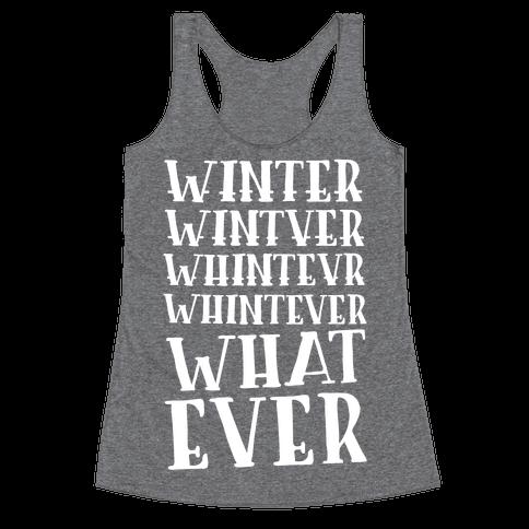 Whatever Winter Racerback Tank Top