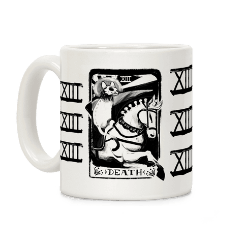 Cat Death Tarot Coffee Mug