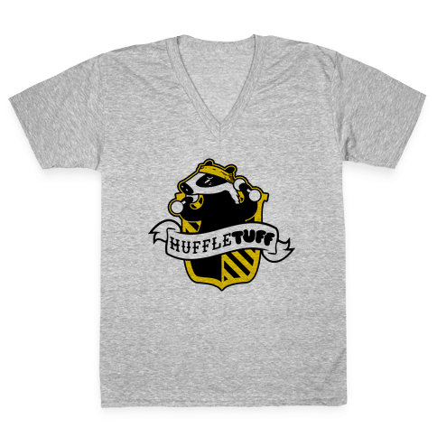 Huffletuff (No Text) V-Neck Tee Shirt
