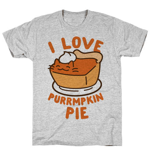 I Love Purrmpkin Pie Mens T-Shirt