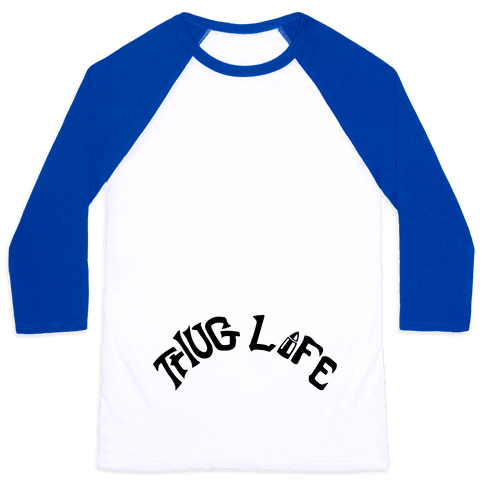 Thug Life Tattoo Baseball Tee