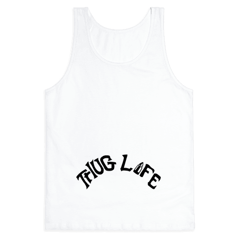 Thug Life Tattoo Tank Top