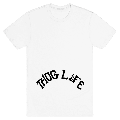 Thug Life Tattoo Mens T-Shirt