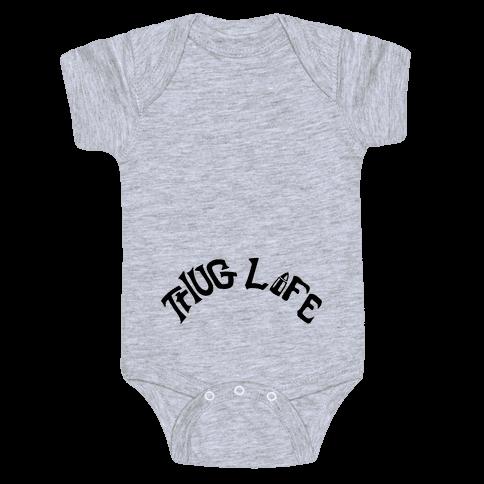 Thug Life Tattoo Baby Onesy