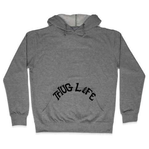 Thug Life Tattoo Hooded Sweatshirt
