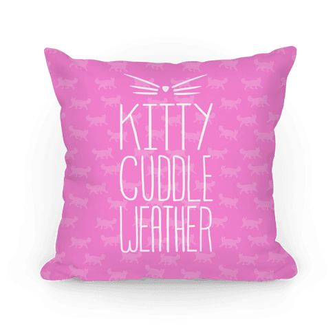 Kitty Cuddle Weather Pillow