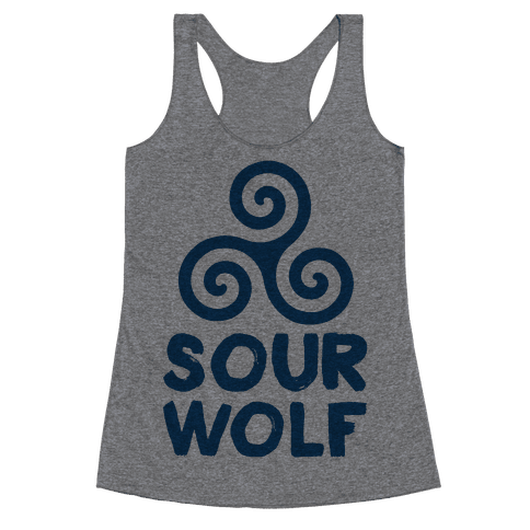 Sourwolf Racerback Tank Top