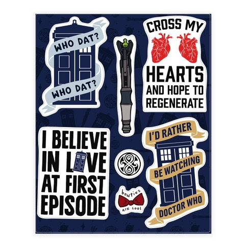 Doctor Who Fandom  Sticker and Decal Sheet