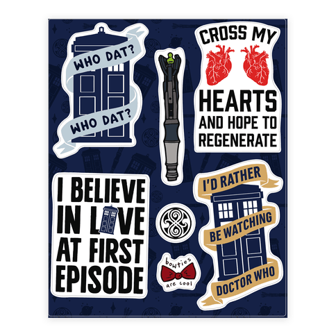 Doctor Who Fandom  Sticker/Decal Sheet