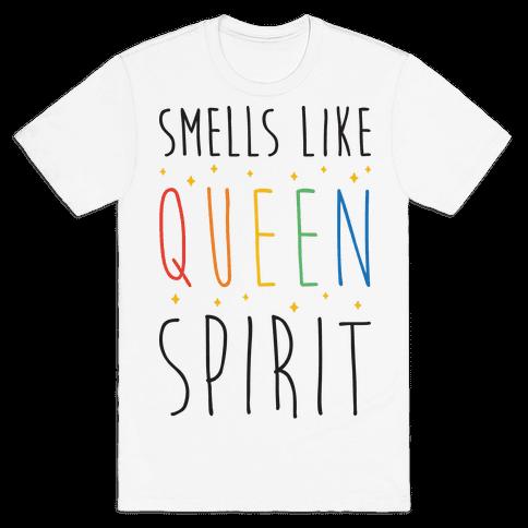 Smells Like Queen Spirit - Parody Mens T-Shirt