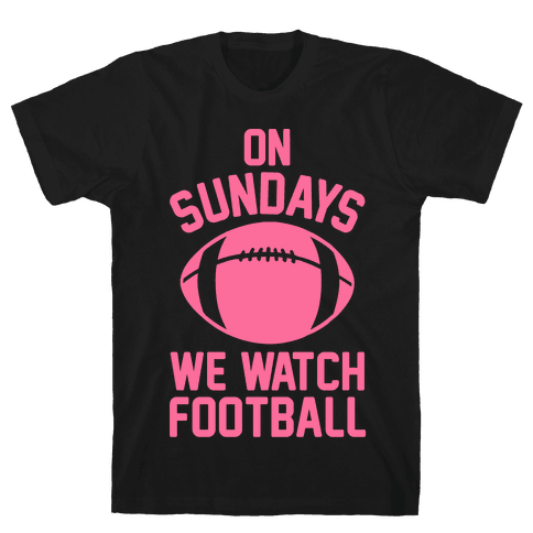 On Sundays We Watch Football Mens T-Shirt