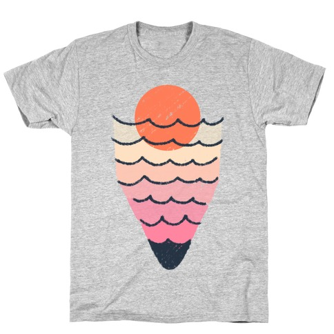 Tropical Ocean Sketch T-Shirt