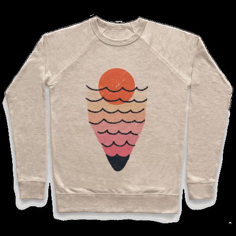 Tropical Ocean Sketch Pullover