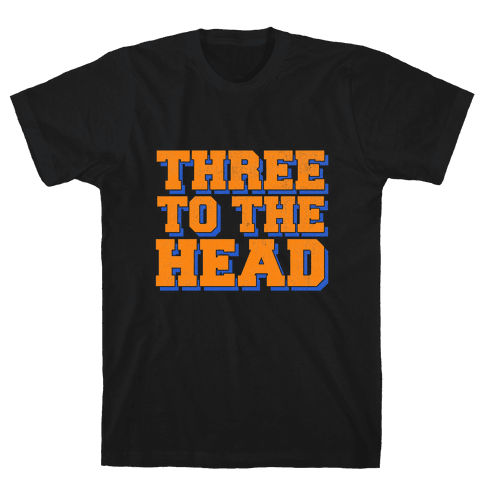 Three 2 the Head Mens T-Shirt