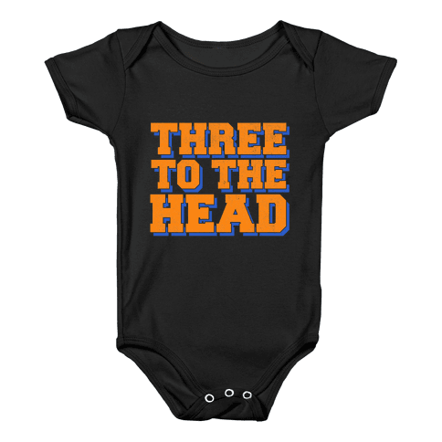 Three 2 the Head Baby Onesy