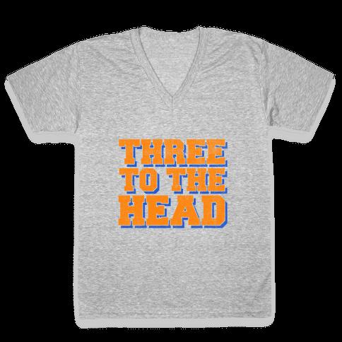 Three 2 the Head V-Neck Tee Shirt