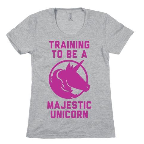 Training to Be A Majestic Unicorn Womens T-Shirt