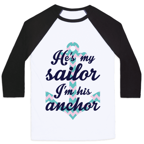 I'm His Anchor Baseball Tee