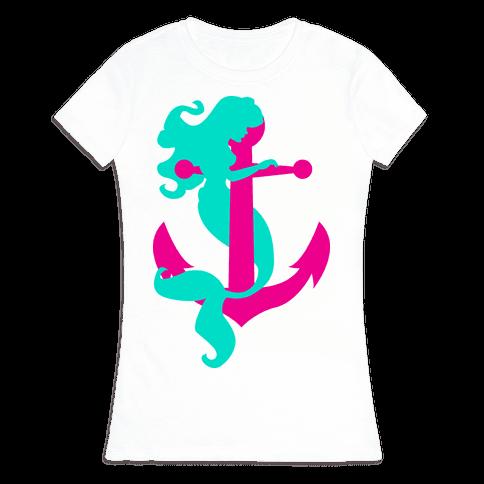 Mermaid Anchor Womens T-Shirt