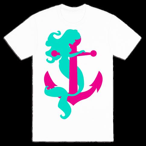 Mermaid Anchor Mens T-Shirt