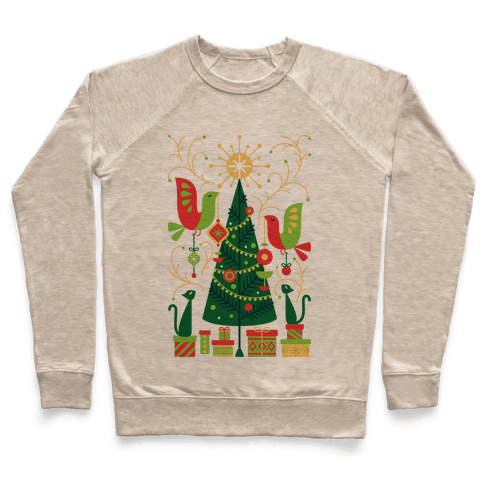 Vintage Christmas Tree Decorating Pullover