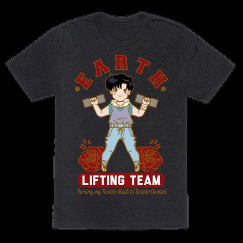 Earth Lifting Team Parody Mens T-Shirt