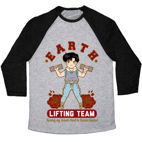 Earth Lifting Team Parody Baseball Tee