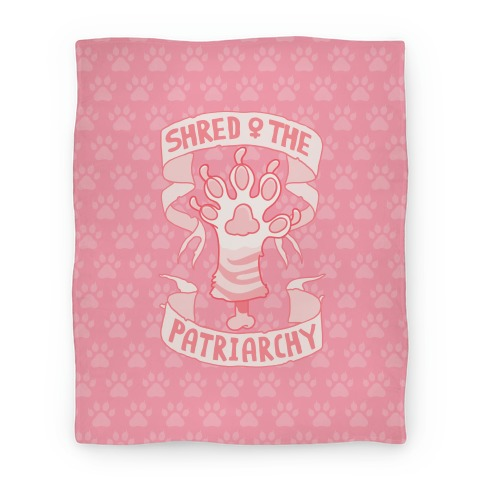 Shred The Patriarchy Blanket
