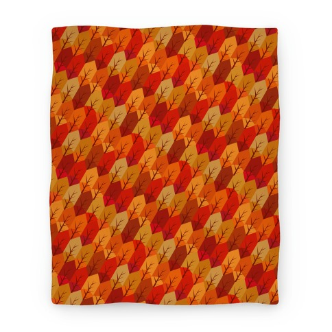 Geometric Fall Leaf Pattern Blanket