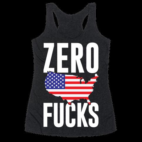 Zero F***s America Racerback Tank Top