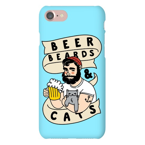 Beer, Beards and Cats Phone Case