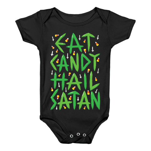 Eat Candy Hail Satan Baby Onesy