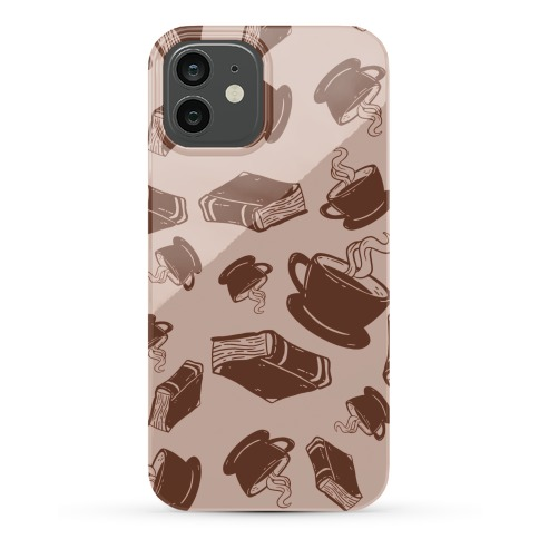Coffee And Books Pattern Phone Case