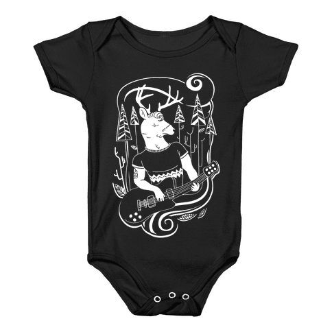 Rock and Roll Buck Baby Onesy