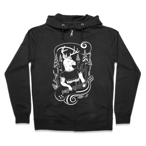 Rock and Roll Buck Zip Hoodie