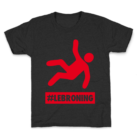 Lebroning (Red) Kids T-Shirt
