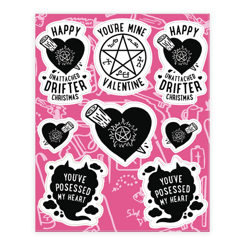 Supernatural Valentine's Day  Sticker/Decal Sheet