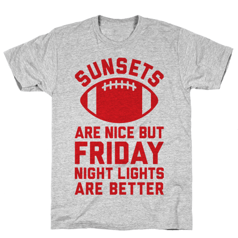 Sunsets And Friday Night Lights Mens T-Shirt